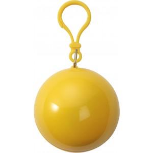 Esőkabát, vékony PVC, sárga