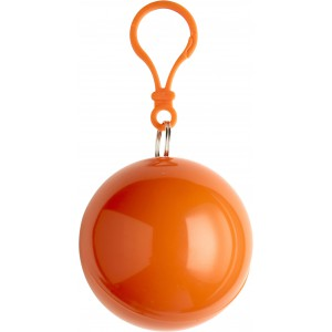Esőkabát, vékony PVC, narancs