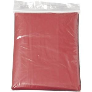 Esőkabát, poncho, átlátszó piros