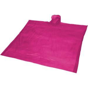 Ziva eldobható esőponcsó tasakkal, rózsaszín