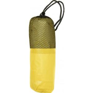 Esőkabát tokkal, sárga