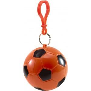 Esőponcsó focis tartóban, narancs